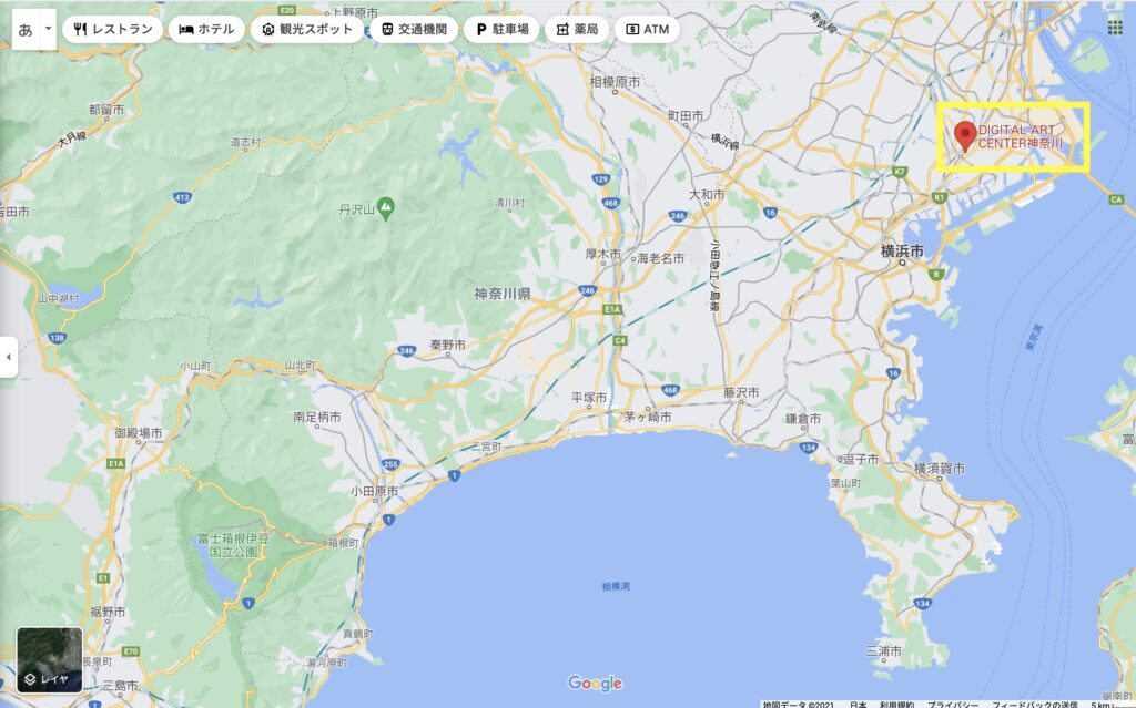 DIGITAL ART CENTER神奈川を示した地図.alt